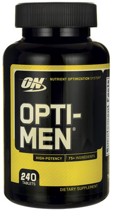 Optimum Nutrition OPTI-MEN, 240 Tablets