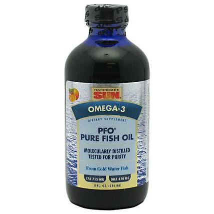 Health From The Sun PFO Pure Fish Oil Liquid, 8 Ounces