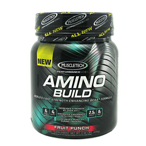 AMINO BUILD, 50 Servings, Fruit Punch Flavor 631656704792