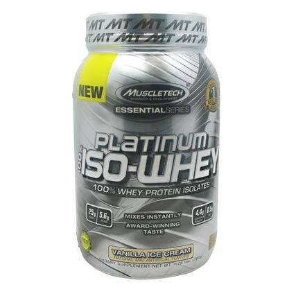 Muscletech 100% Platinum Iso-Whey, 1.79 Pounds
