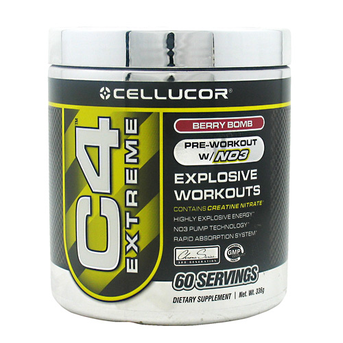 C4 Extreme, 60 Servings, Berry Bomb Flavor 810390024698, 810390023653
