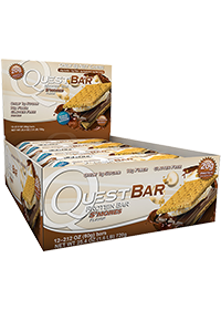 Quest Protein Bar, 12 Bars, S'mores Flavor 888849001231