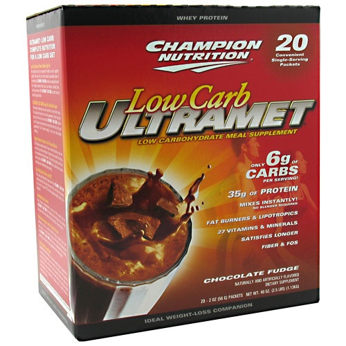 Low Carb UltraMet, 20 Packets, Chocolate Fudge Flavor 027692131805