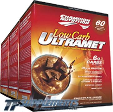 Low Carb UltraMet, 60 Packets, Vanilla Cream Flavor 027692132505
