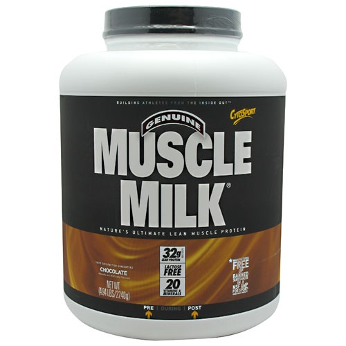 Muscle Milk, 5 Pounds, Strawberries n Creme Flavor 660726503362