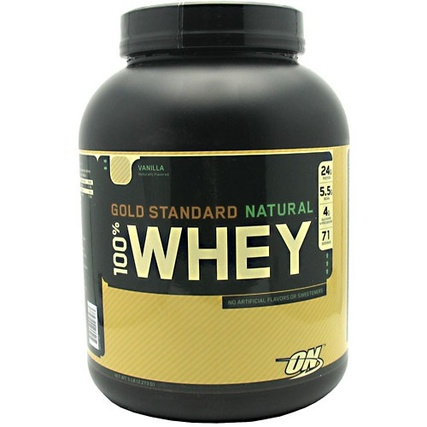 Optimum Nutrition 100% Natural Whey Gold Standard, 5 Pounds