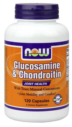 NOW Foods Glucosamine & Chondroitin with Trace Minerals, 120 Capsules