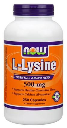 NOW Foods L-Lysine 500 mg., 250 Capsules