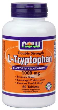 NOW Foods L-Tryptophan 1000 mg., 60 Tablets