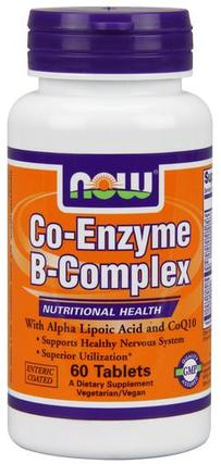 NOW Foods Co-Enzyme B-Complex, 60 Tablets