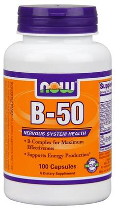 NOW Foods Vitamin B-50 mg., 100 Capsules