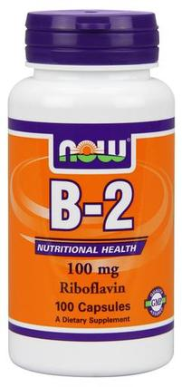NOW Foods Vitamin B-2 (Riboflavin) 100mg, 100 Capsules