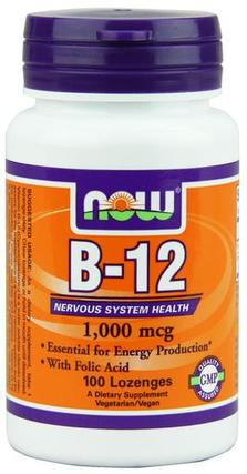 NOW Foods Vitamin B-12 1000 mcg., 100 Chewable Lozenges