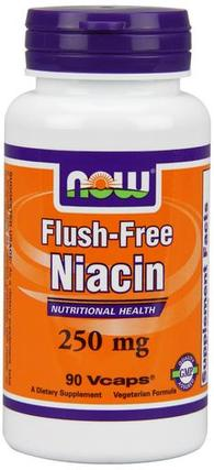 NOW Foods Flush-Free Niacin - 250 mg Vcaps, 90 Vegi Capsules