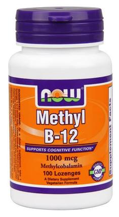 NOW Foods Methyl B-12 1,000 mcg, 100 Lozenges