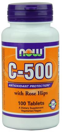 NOW Foods Vitamin C-500 Tabs, 100 Tablets