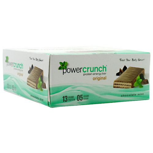Power Crunch Bar, 12 Bars, Chocolate Mint Flavor 644225722103