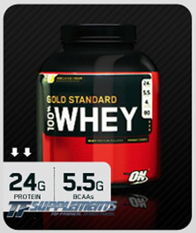 100% Whey Gold Standard, 2 Pounds, Vanilla Ice Cream Flavor 748927028652
