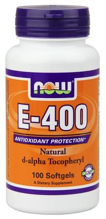 NOW Foods Vitamin E-400 IU D-Alpha Tocopheryl Acetate, 100 Softgels