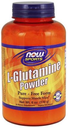 NOW Foods Glutamine Powder, 6 Ounces