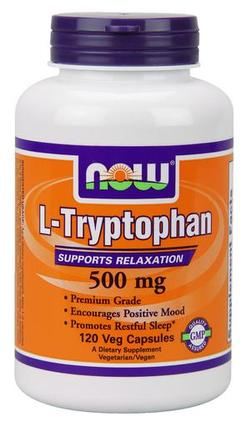 NOW Foods L-Tryptophan 500 mg., 120 Vegi Capsules