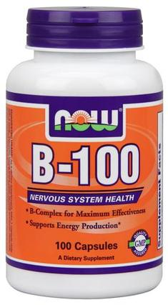 NOW Foods Vitamin B-100, 100 Capsules