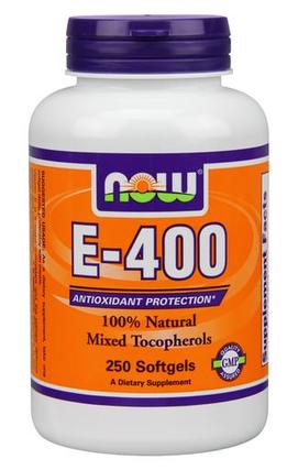 NOW Foods Vitamin E-400 IU MT Softgels, 250 Softgels