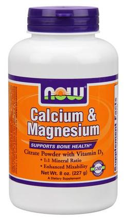 NOW Foods Calcium & Magnesium, 8 Ounces