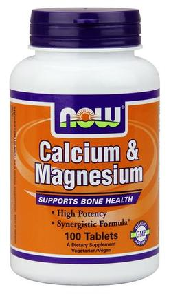 NOW Foods Calcium & Magnesium Tabs, 100 Tablets
