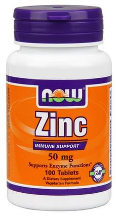 NOW Foods Zinc 50 mg Tabs, 100 Tablets