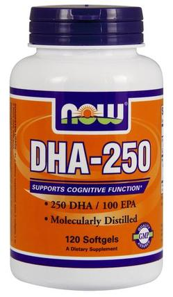 NOW Foods DHA-250 Softgels, 120 Softgels