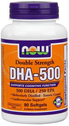 NOW Foods DHA-500 - Softgels, 90 Softgels