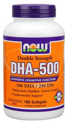NOW Foods DHA-500 - Softgels, 180 Softgels