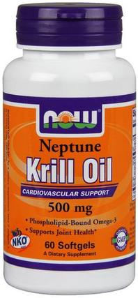 NOW Foods Neptune Krill Oil Softgels, 60 Softgels