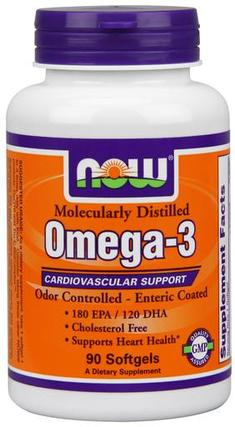 NOW Foods Molecularly Distilled Omega-3, 90 Softgels