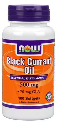 NOW Foods Black Currant Oil 500 mg Softgels, 100 Softgels