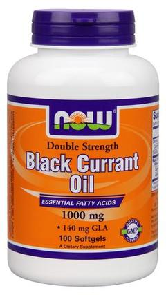 NOW Foods Black Currant Oil 1000 mg Softgels, 100 Softgels