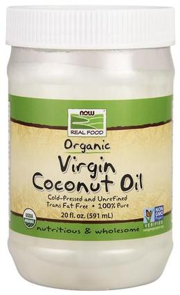 NOW Foods Virgin Coconut Oil, Certified Organic, 20 Fluid Ounces