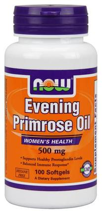 NOW Foods Evening Primrose Oil 500 mg Softgels, 100 Softgels