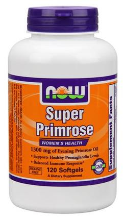 NOW Foods Super Primrose 1300 mg., 120 Softgels
