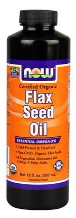 NOW Foods Flax Seed Oil, Certified Organic, 12 Ounces