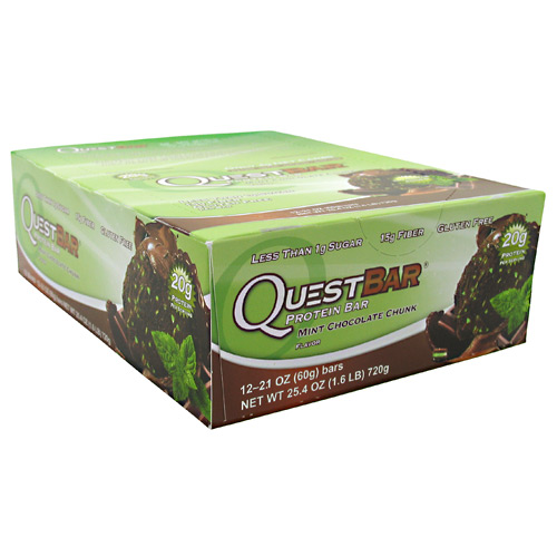 Quest Protein Bar, 12 Bars, Mint Chocolate Chunk Flavor 888849001378
