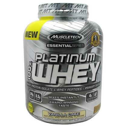 Muscletech 100% Platinum Whey, 5 Pounds