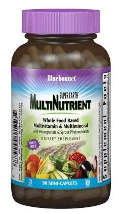 Bluebonnet Nutrition Super Earth® Multinutrient Formula (Iron Free), 90 Caplets