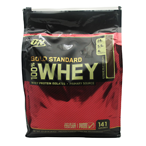 100% Whey Gold Standard, 10 Pounds, Extreme Milk Chocolate Flavor 748927053159