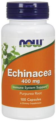 NOW Foods Echinacea 400 mg, 100 Capsules