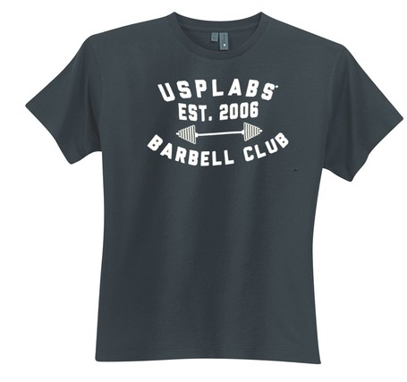 USP Labs Bar-Bell Club T-Shirt + Protein Samples