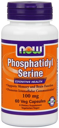 NOW Foods Phosphatidyl Serine 100 mg, 60 Vegi Capsules