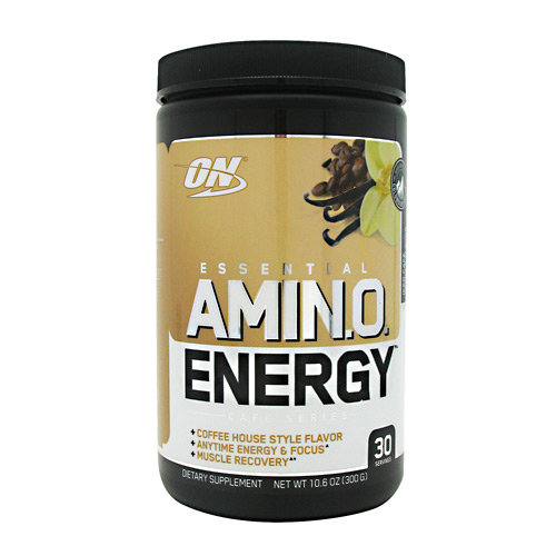 AMINO ENERGY, 30 Serving, Iced Cafe Vanilla Flavor 748927053982