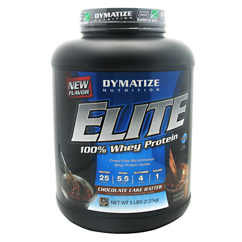 Elite Whey Protein, 5 pound, Chocolate Cake Batter Flavor 705016560134